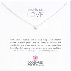 Маленькое белое жемчужное ожерелье Pearls of Love Dogeared