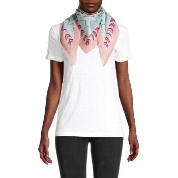 Шелковый шарф с треугольными чашечками и принтом Missoni