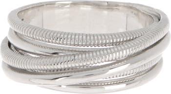 Текстурированное кольцо из стерлингового серебра Judith Ripka