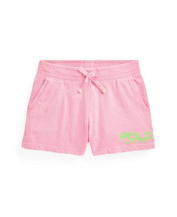 Терри-шорты с логотипом Big Girls Ralph Lauren