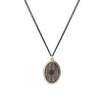 Аргайл черный бриллиант, эмаль и эмаль Золотое ожерелье с подвеской Vermeil Miansai