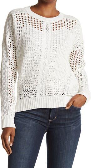 Открытый вязаный крючком свитер Mazet Maje