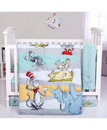 Комплект постельного белья для детской кроватки из 4 предметов Dr. Seuss Book Club Trend Lab