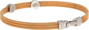 Позолоченный браслет с двумя бриллиантами из 18 карат - 0,09 карата ALOR