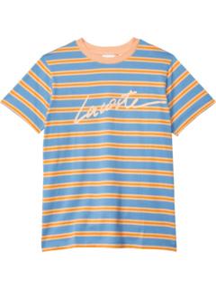 Футболка Stripes Lacoste Wording (для малышей / маленьких детей / старших детей) Lacoste Kids