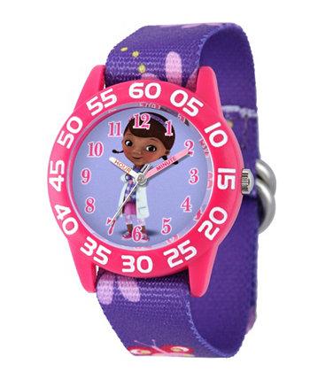 """Часы для учителей Disney Doc Mcstuffins """"Pink Plastic Time"""" Ewatchfactory"""