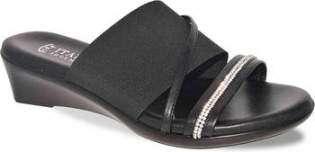 Sassy Embellished Strap Wedge Sandal Italian Shoemakers