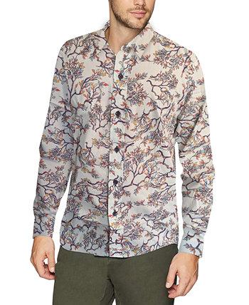 Мужская рубашка с принтом в виде коралловых ветвей Nick Graham