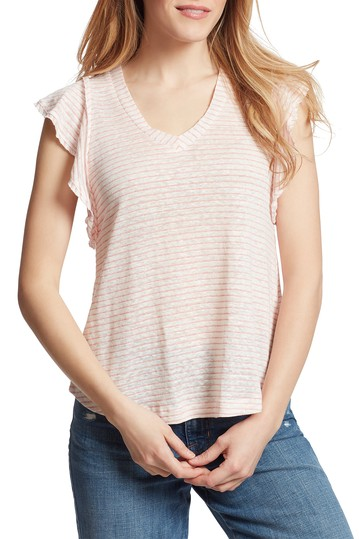 Рубашка из смесового льна в полоску Gemma Ella Moss