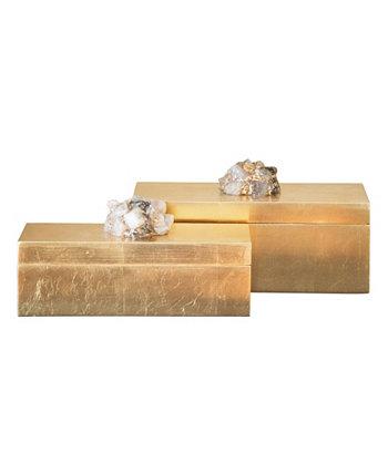 Кварцевые прямоугольные коробки Astoria (набор из 2 шт.) Couture