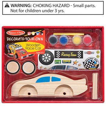 """Игрушка для детей, Деревянная гоночная машина """"Укрась свой собственный"""" Melissa and Doug"""