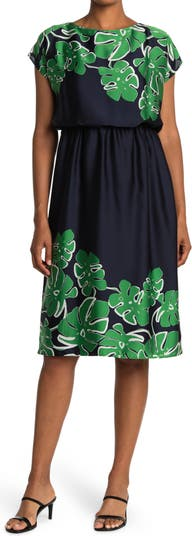 Платье с принтом Hazy Leaf Trina Turk