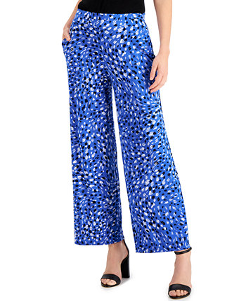 Petite Wide-Leg Printed Pants Kasper