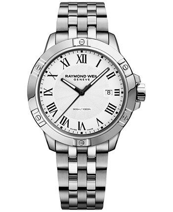 Мужские швейцарские часы-браслет из нержавеющей стали Tango 41мм 8160-ST-00300 Raymond Weil