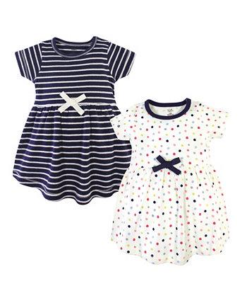 Детское органическое платье для малышей 2 пакета Touched by Nature