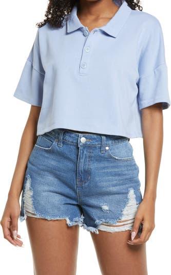 Женская укороченная футболка-поло прямого кроя BP.