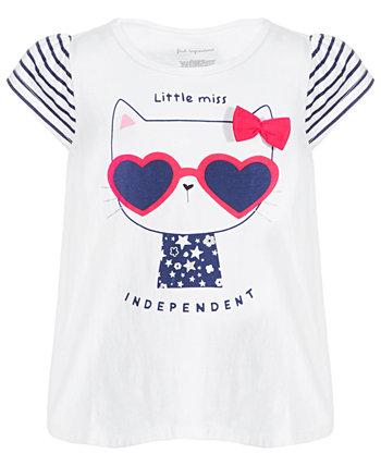 Хлопковая туника для новорожденных девочек Independent Kitty, созданная для Macy's First Impressions