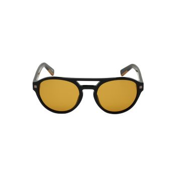Круглые поляризованные солнцезащитные очки-авиаторы 56 мм Zegna