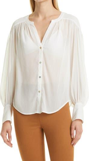 Блуза L'AGENCE Farah на пуговицах LAGENCE
