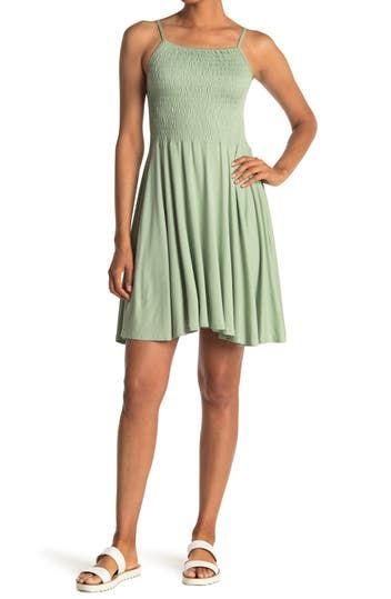 Платье со сборками на тонких бретелях Angie