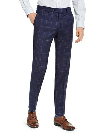 Мужские классические брюки TH Flex Stretch темно-синего цвета для оконных стекол Tommy Hilfiger