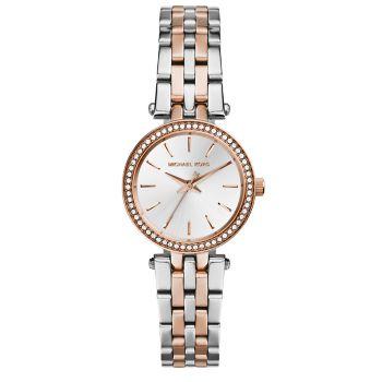 Двухцветные часы с браслетом из нержавеющей стали Darci Petite Pavé Michael Kors