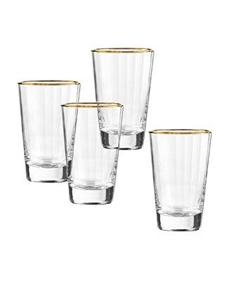 Очки Dominion Gold Highball, набор из 4 шт. Qualia Glass