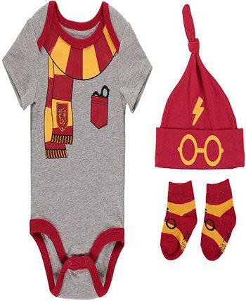 Комплект боди с Гарри Поттером для маленьких мальчиков, 3 предмета HAPPY THREADS