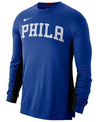 Мужская футболка с длинным рукавом с длинным рукавом с коротким рукавом от Philadelphia 76ers Lids