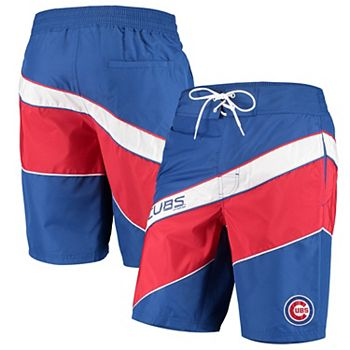 Men's Starter Royal/Red Chicago Cubs Rookie Swim Trunk Starter