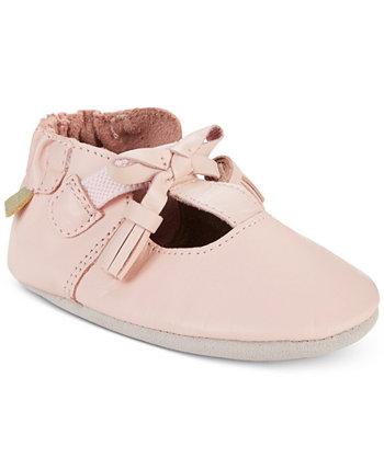 Baby Girls Меган Розовая Мягкая Подошва Обувь Robeez