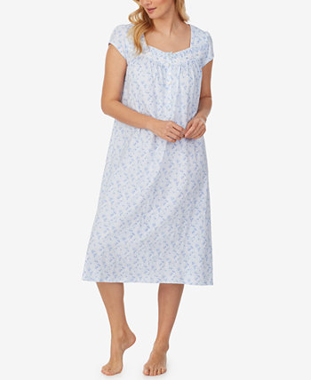 Printed Cotton Jersey Nightgown Eileen West