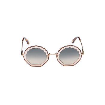 Солнцезащитные очки 56MM с геометрическим рисунком Chloe