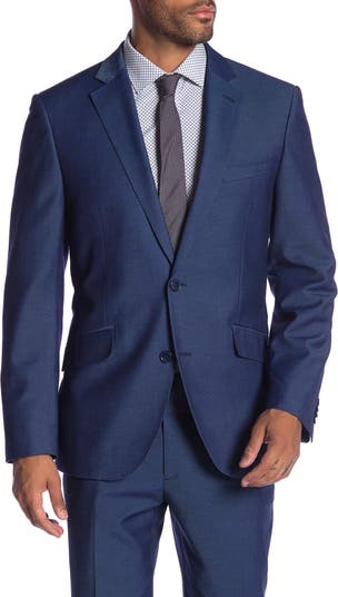 Синий пиджак с двумя пуговицами и отворотом Mayfair Modern Fit Gab Savile Row
