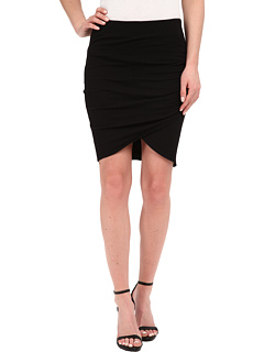 Cotton Lycra Cross Front Mini Skirt Michael Stars