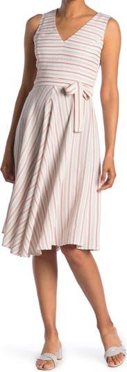 Striped Sleeveless Fit & Flare Midi Dress Tommy Hilfiger