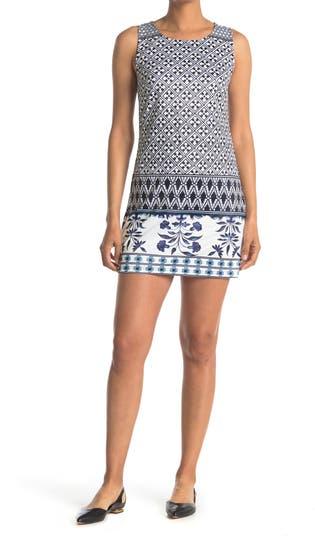 Платье прямого кроя без рукавов с принтом Lattice Border Papillon