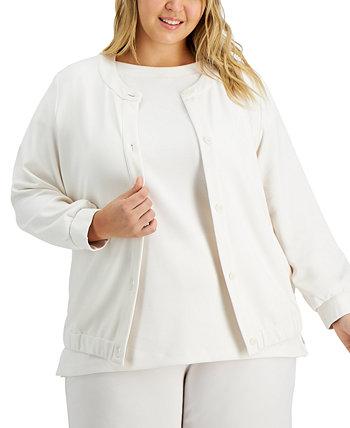 Plus Size Drawstring-Hem Jacket, Created for Macy's Alfani