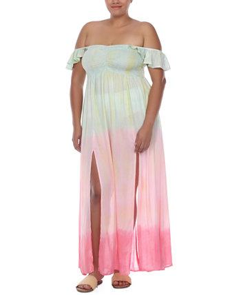 Платье макси больших размеров с разрезом на рукавах и разрезом, прикрытие Raviya