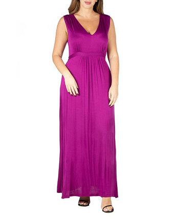 Женское платье макси с завышенной талией 24seven Comfort Apparel