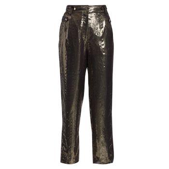 Широкие брюки Persis Lamé DEREK LAM 10 CROSBY