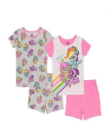 Little Girls Four Piece Set My Little Pony