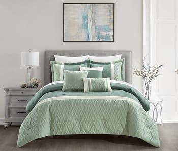 Комплект из 6 предметов одеяла с геометрическим жаккардовым дизайном Macey - King CHIC