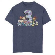 Футболка для мальчиков 8-20 Nickelodeon Rugrats с графическим рисунком на третий день рождения Nickelodeon