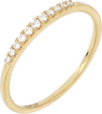 Накладное кольцо из желтого золота 18 карат с бриллиантом - 0,09 карата Bony Levy