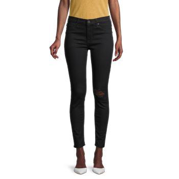 Рваные джинсы до щиколотки со средней посадкой Hudson
