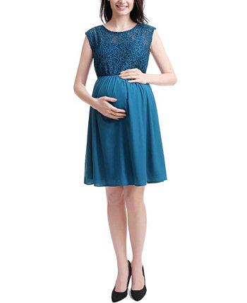 Женское кружевное платье для беременных Genevieve Maternity Kimi + kai