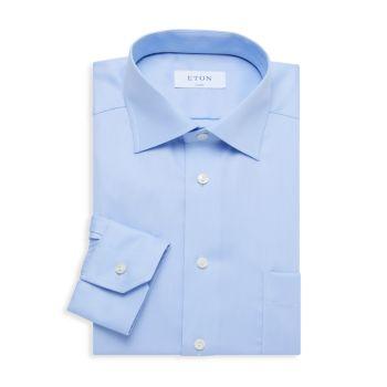Classic-Fit Patch Pocket Dress Shirt Eton