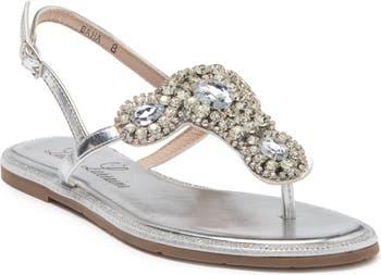Baha Crystal Embellished T-Strap Sandal Lauren Lorraine