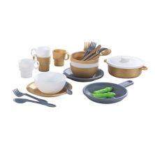 Набор посуды Modern Metallics из 27 предметов KidKraft KidKraft